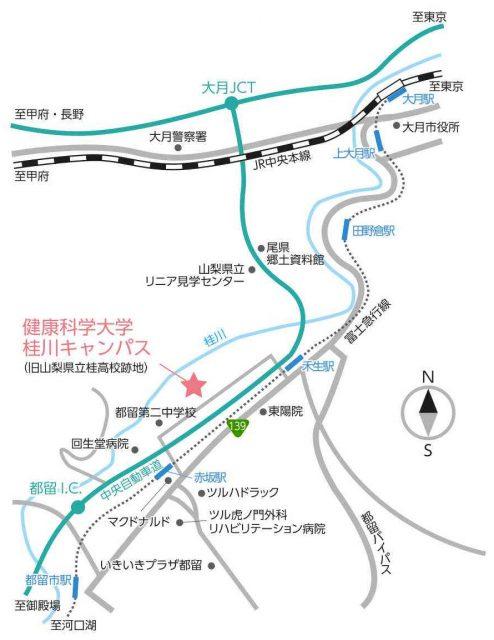 桂川キャンパス周辺の地図
